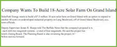 Company Wants To Build 18-Acre Solar Farm On Grand Island