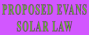 Proposed Solar Law by Bill Henry