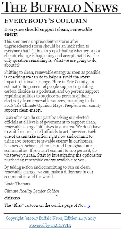 Buffalo News Editorial Renewable Energy
